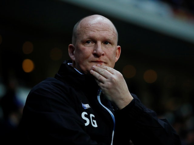 Simon Grayson, in charge of Bradford City in March 2018