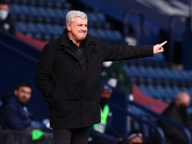 Newcastle United manager Steve Bruce pictured on March 7, 2021