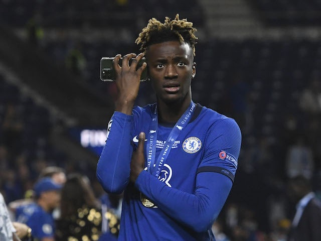 Chelsea striker Tammy Abraham pictured in May 2021