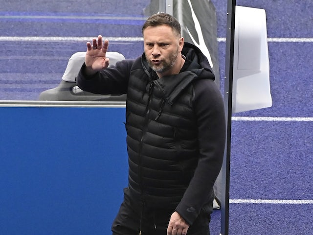 Hertha Berlin coach Pal Dardai pictured on April 10, 2021