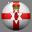 Irlanda do Norte country flag