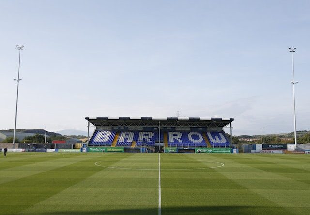 General view at Barrow's Holker Street Stadium before the game on August 24, 2021