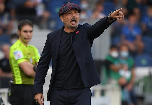 Bologna coach Sinisa Mihajlovic on August 28, 2021
