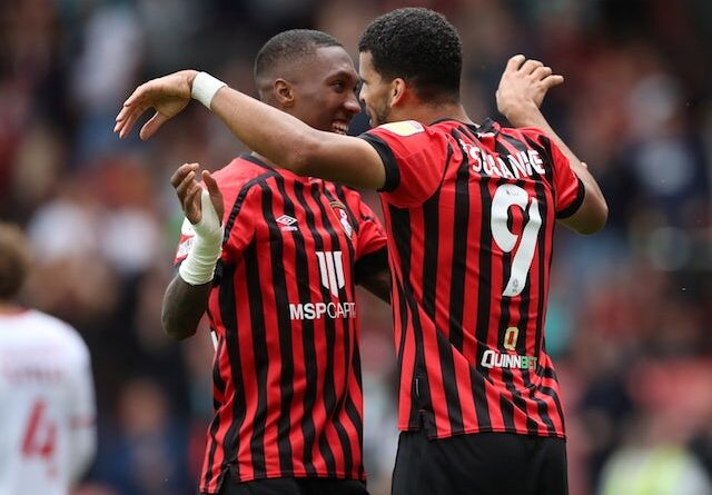 Bournemouth's Dominic Solanke will celebrate his second goal on September 11, 2021