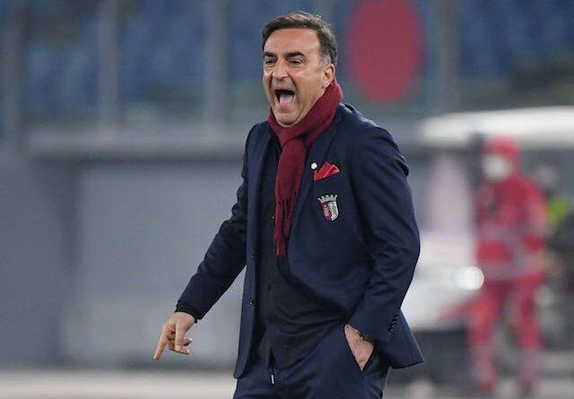 Braga coach Carlos Carvalhal in February 2021