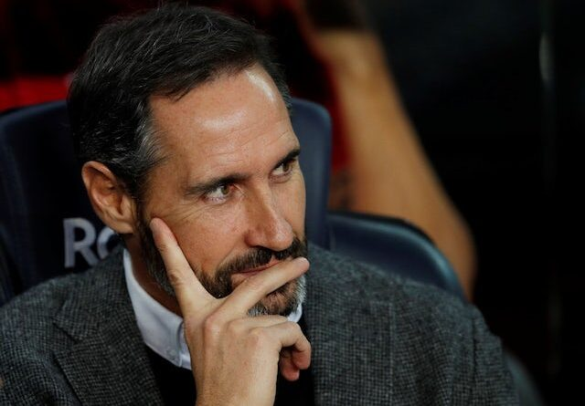 Espanyol boss Vicente Moreno pictured in December 2019