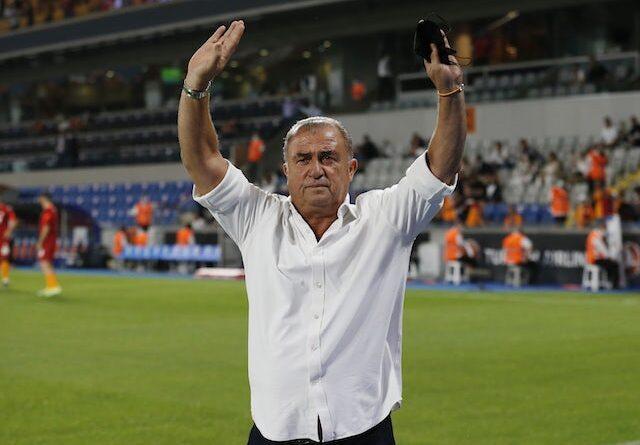 Galatasaray coach Fatih Terim ahead of the game on August 5, 2021