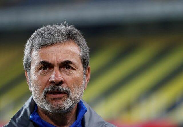 Istanbul Basaksehir head coach Aykut Kocaman pictured on May 3, 2018