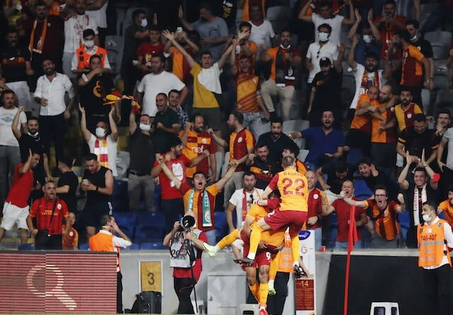 Galatasaray's Sacha Boey will celebrate his first goal with his fans on August 5th, 2021
