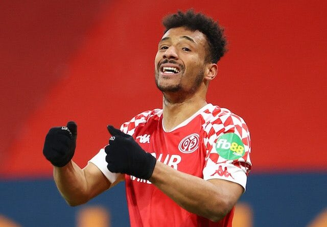 Karim Onisiwo from Mainz 05 reacts on January 23, 2021