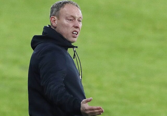 Swansea City Manager Steve Cooper pictured in February 2021