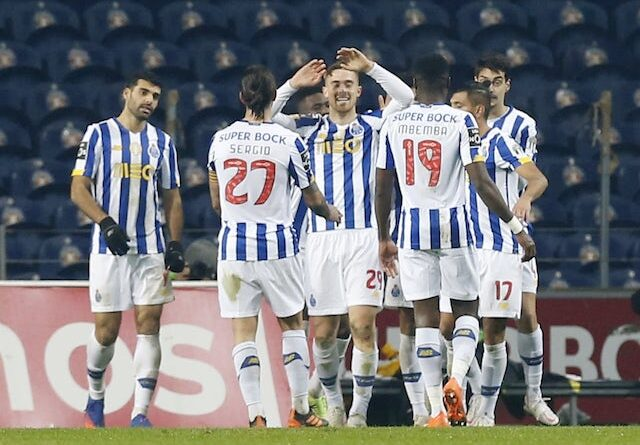 Porto's Antonio Martinez will celebrate his second goal with his teammates in January 2021
