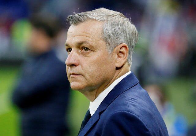 Bruno Genesio, now in charge of Rennes, pictured in 2019
