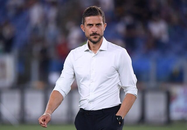 Sassuolo coach Alessio Dionisi before the game on September 12, 2021