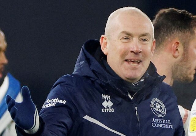 Queens Park Rangers QPR manager Mark Warburton pictured in February 2021