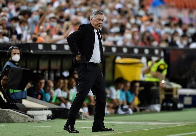 Real Madrid manager Carlo Ancelotti on September 19, 2021