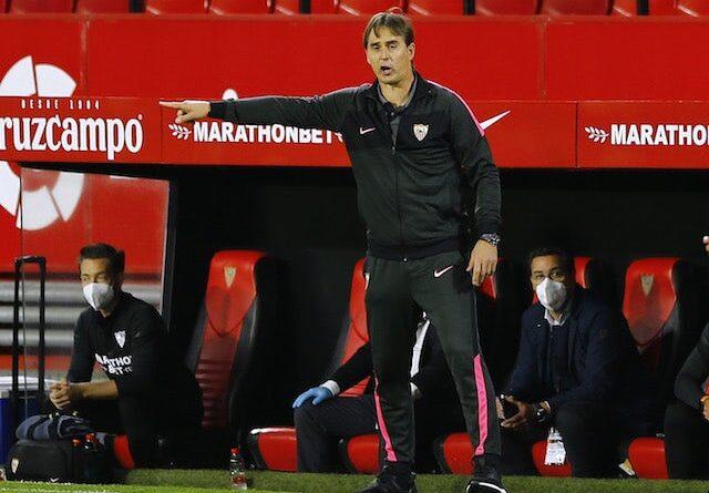 Seville head coach Julen Lopetegui pictured on April 4, 2021
