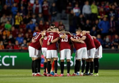 Sparta Prague players pictured on September 30, 2021
